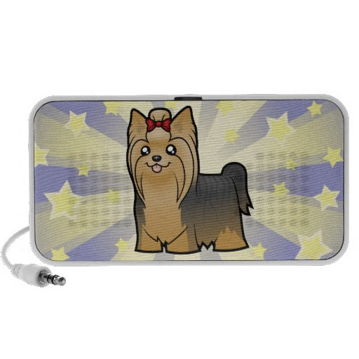 Poca estrella Yorkshire Terrier (pelo largo con el Mini Altavoz