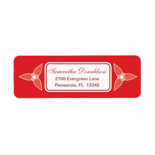 Poca etiqueta básica del remite de la hoja - rojo etiquetas de remite