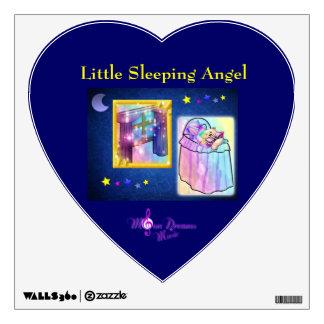 Poca etiqueta de la pared del ángel el dormir vinilo