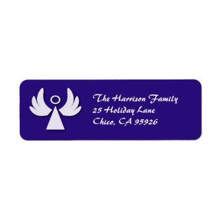 Poca etiqueta del remite del día de fiesta del áng etiquetas de remite