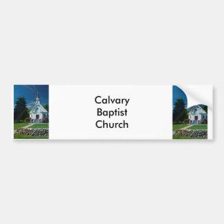 Poca iglesia blanca pegatina de parachoque