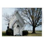 Poca iglesia del país tarjetas