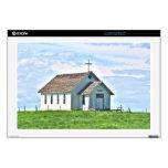 Poca iglesia en la pradera portátil calcomanías