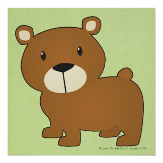 Poca impresión del oso poster