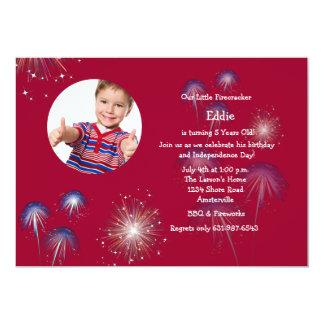 Poca invitación del cumpleaños de la foto del invitación 12,7 x 17,8 cm