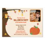 Poca invitación del fiesta de la foto del otoño de invitación 12,7 x 17,8 cm