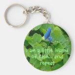 Poca isla de la calma llaveros personalizados