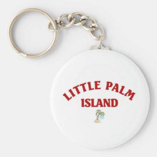 Poca isla de palma llaveros personalizados
