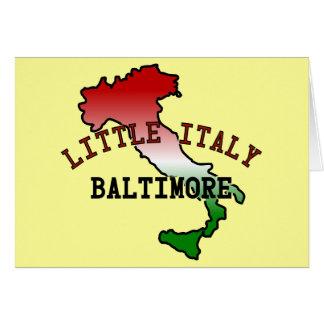 Poca Italia Baltimore Tarjeton