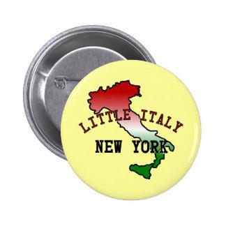 Poca Italia Nueva York Pin Redondo De 2 Pulgadas