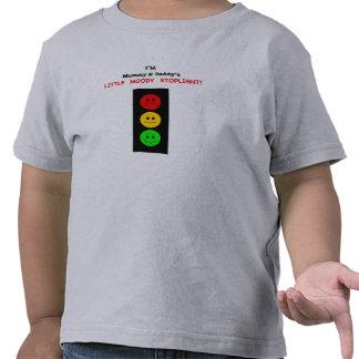 Poca luz de parada cambiante de la mamá y del papá camiseta