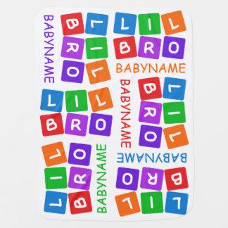 Poca manta de encargo del bebé de Bro Mantita Para Bebé