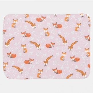 Poca manta del bebé del Fox - se ruboriza el rosa Manta De Bebé