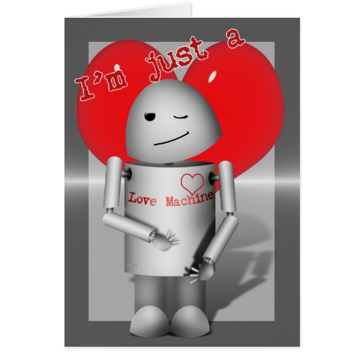 Poca máquina Robo-x9 del amor Tarjeta