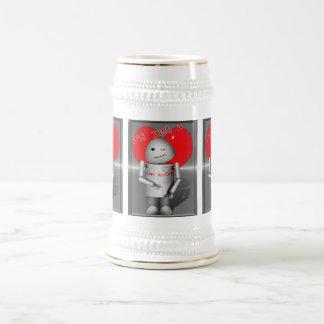 Poca máquina Robo-x9 del amor Tazas