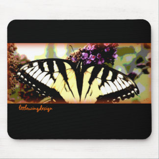 Poca mariposa del ala alfombrillas de raton