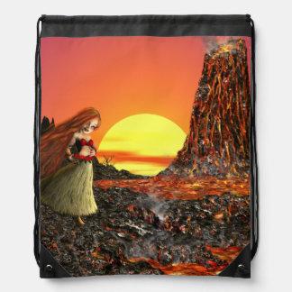Poca mochila del lazo de la diosa del volcán de