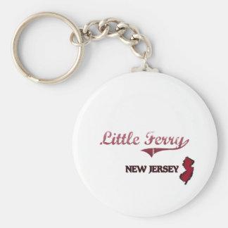 Poca obra clásica de la ciudad de New Jersey del t Llavero Redondo Tipo Pin