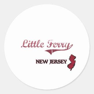 Poca obra clásica de la ciudad de New Jersey del t Pegatina Redonda