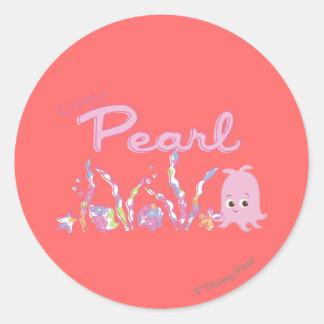 Poca perla pegatinas redondas