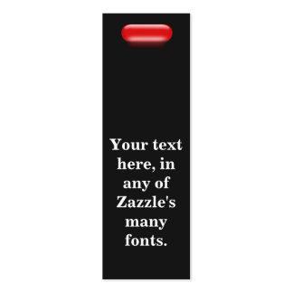 Poca píldora roja tarjetas de visita mini