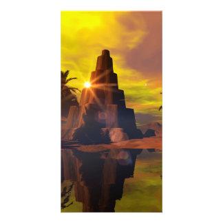 Poca pirámide tarjeta personal con foto