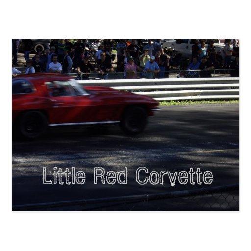 Poca postal roja del Corvette