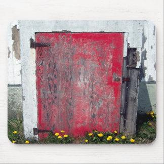 Poca puerta roja Mousepad Alfombrilla De Ratones