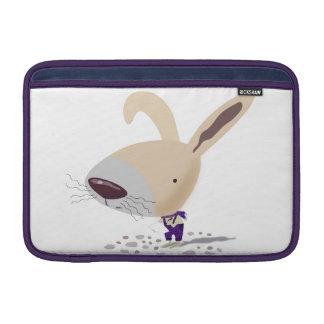 "Poca púrpura del conejito jadea el aire 11"" de Mac Fundas Macbook Air"