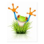 Poca rana arbórea en la hierba postales