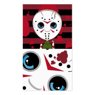 Poca señal del asesino en serie de Halloween Tarjetas De Visita