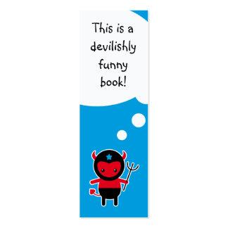Poca señal del diablo de Ninja del kawaii Tarjetas De Visita Mini