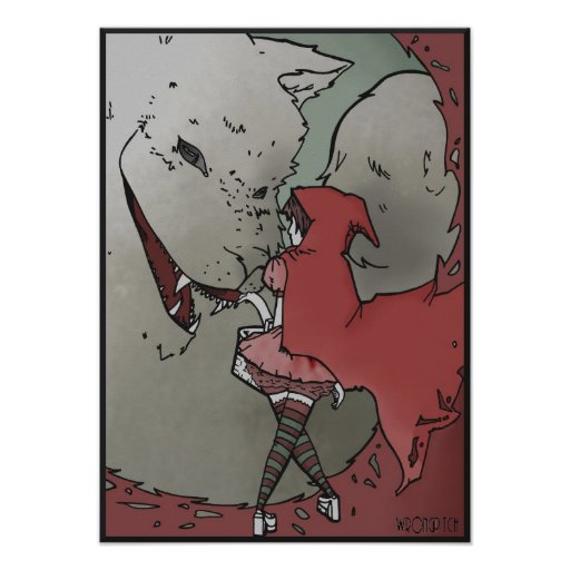 poca sudadera con capucha roja póster