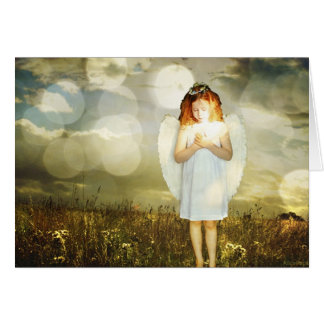 Poca tarjeta de cumpleaños del ángel