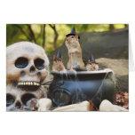 Poca tarjeta de felicitación de las brujas del