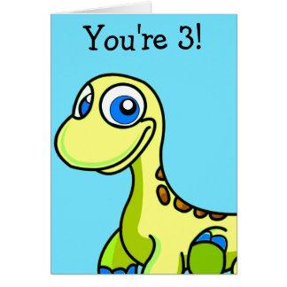 Poca tarjeta de felicitación del cumpleaños del di