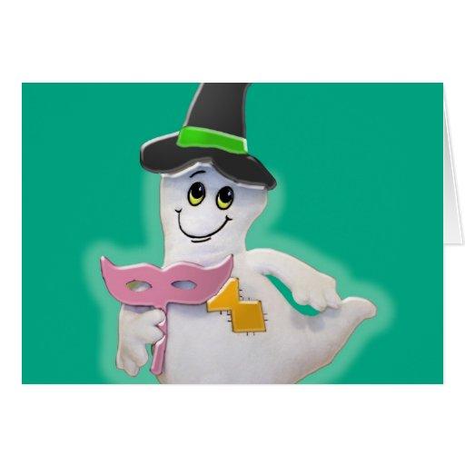 Poca tarjeta de felicitación del fantasma de Hallo