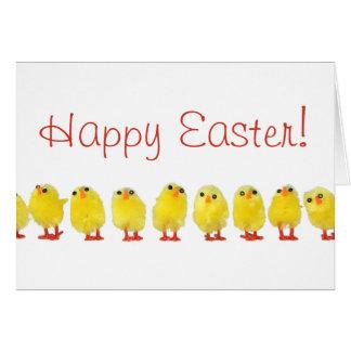 Poca tarjeta de los polluelos de Pascua