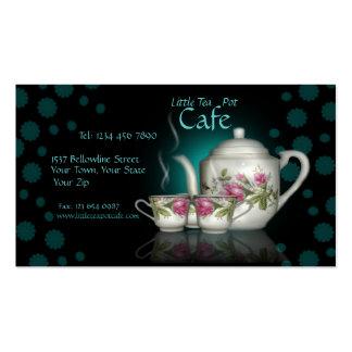 Poca tarjeta de visita de la tienda del café del p
