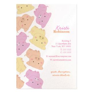 Poca tarjeta de visita del modelo de Piggies de la
