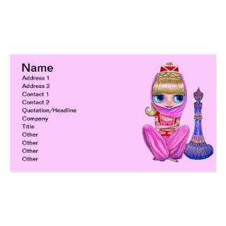 Poca tarjeta de visita rosada de los genios