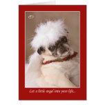 Poca tarjeta del barro amasado del navidad del áng