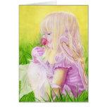 Poca tarjeta del rosa de hadas de la primavera