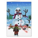 Poca tarjeta PASADA del muñeco de nieve de Timothy