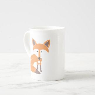 Poca taza del Fox Taza De Porcelana