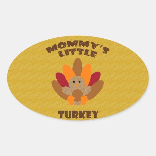 Poca Turquía de la mamá Pegatina Ovalada