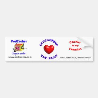 Pocacher, cachin' is my passion, love geocaching bumper sticker