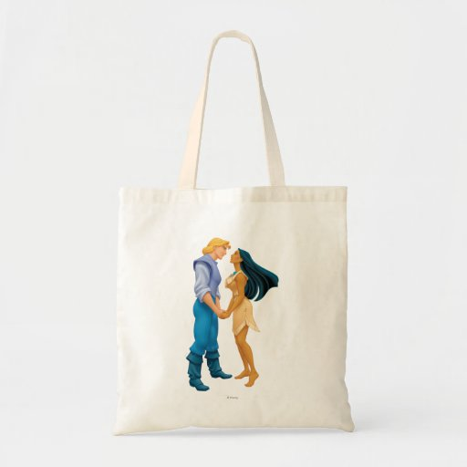 Pocahontas and John Smith Holding Hands Tote Bags