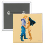 Pocahontas and John Smith Holding Hands 2 Inch Square Button