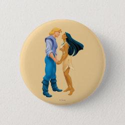 Round Button with Pocahontas & John Smith Forever design